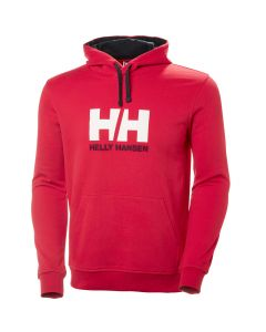 Męska bluza bawełniana Helly Hansen Logo Hoodie flag red