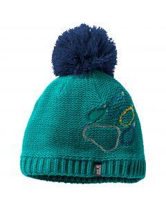 Czapka zimowa dziecięca PAW KNIT CAP KIDS green ocean
