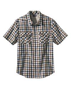 Koszulka FARO SHIRT MEN soil brown checks