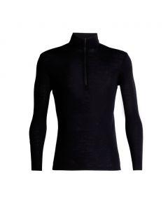 Koszulka termoaktywna męska Icebreaker 175 EVERYDAY LS HALF ZIP black