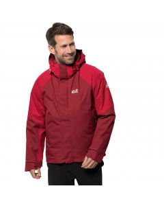 Męska kurtka 3w1 STETING PEAK JACKET M dark lacquer red