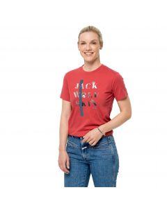 Koszulka damska MOUNTAIN T W Coral Red