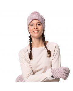 Czapka z pomponem damska HIGHLOFT KNIT CAP WOMEN violet pearl