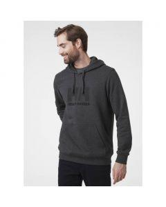 Męska bluza bawełniana Helly Hansen Logo Hoodie ebony