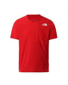 Koszulka do biegania The North Face TRUE RUN S/S red