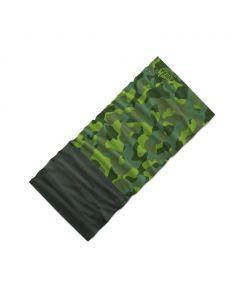 Chusta wielofunkcyjna 4Fun MULTIFUNCTIONAL SCARF 8 in 1 POLARTEC camu green