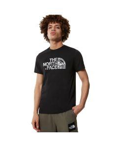 Męski t-shirt The North Face S/S WOODCUT DOME TEE black