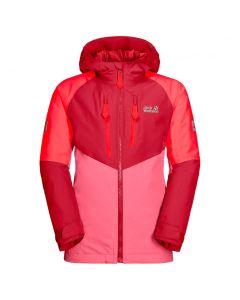 Kurtka narciarska dziecięca GREAT SNOW JACKET KIDS coral pink