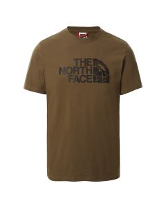 Koszulka męska The North Face S/S WOODCUT DOME TEE military olive