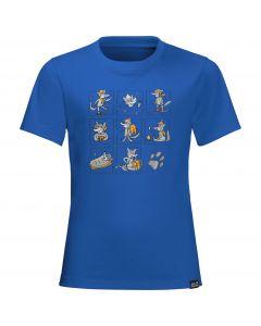 T-shirt dziecięcy MANY WOLVES T KIDS coastal blue