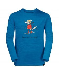 Koszulka dziecięca SKIING WOLF LONGSLEEVE KIDS blue pacific