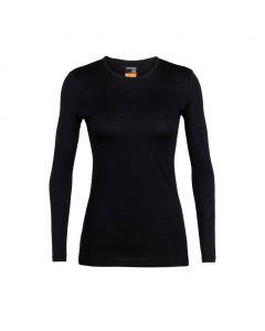 Koszulka termoaktywna damska Icebreaker 200 OASIS CREWE black