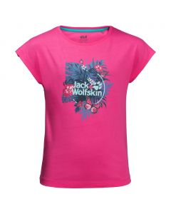 Dziewczęca koszulka TROPICAL T GIRLS pink peony