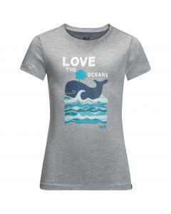 T-shirt dziecięcy OCEAN T KIDS slate grey