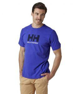 Koszulka Helly Hansen Logo T-shirt royal blue