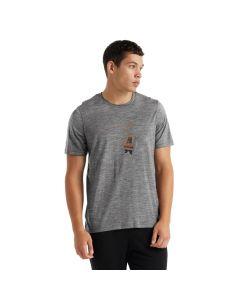 Koszulka termoaktywna męska Icebreaker Tech Lite II Tee Bear Lift gritstone heather