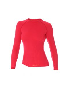 Koszulka termoaktywna z długim rękawem Brubeck Active Wool LS12810 raspberry