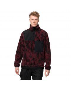 Bluza polarowa męska 365 FEARLESS SNAP JAQUARD M Cordovan Red All Over