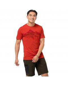 T-shirt męski CROSSTRAIL GRAPHIC T M lava red