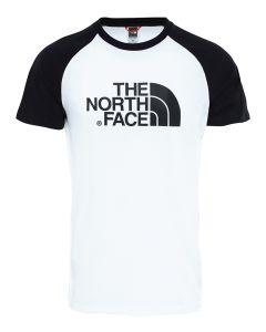 Męski T-shirt The North Face S/S Raglan Easy Tee white/black