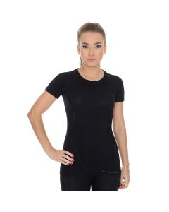 Termoaktywna koszulka damska Brubeck Active Wool SS11700 black