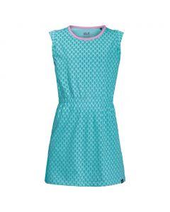 Sukienka dziewczęca LILY LAGOON DRESS aquamarine all over