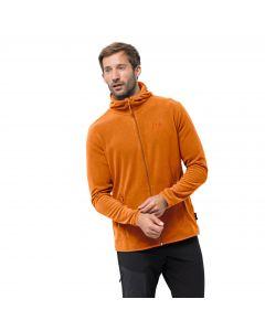 Męska kurtka polarowa ARCO JACKET M rusty orange stripes