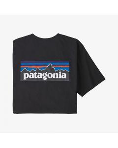 Męska koszulka Patagonia P-6 Logo Pocket Responsibili-Tee black