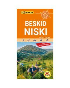 Mapa turystyczna Compass BESKID NISKI 1:50 000 laminowana