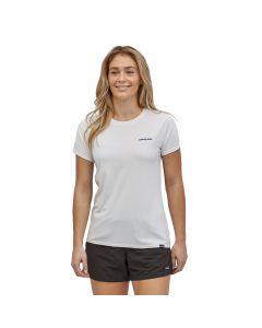 T-shirt Patagonia Capilene® Cool Daily Shirt Boardshort Logo: White