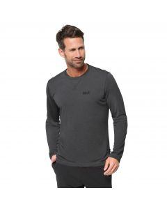Męska koszulka CROSSTRAIL LONGSLEEVE MEN dark steel