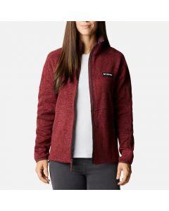 Polar damski Columbia Sweater Weather Full Zip malbec heather