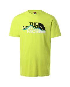 Koszulka męska S/S MOUNTAIN LINE TEE sulphur green