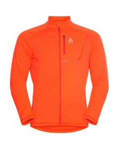 Męska bluza polarowa Odlo Fli Light Midlayer Full Zip exuberant orange