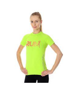 Damska koszulka do biegania Brubeck RUNNING AIR PRO SS13270 neon