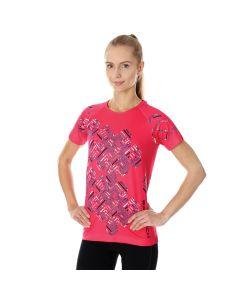 Damska koszulka do biegania Brubeck RUNNING AIR SS13250A raspberry