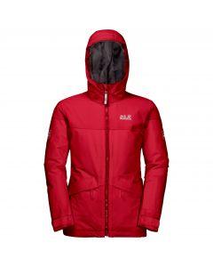 Dziewczęca kurtka narciarciarska POWDER MOUNTAIN JACKET GIRLS red fire