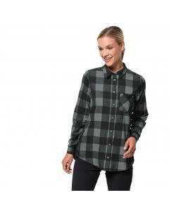 Damska koszula HOLMSTAD SHIRT greenish grey checks