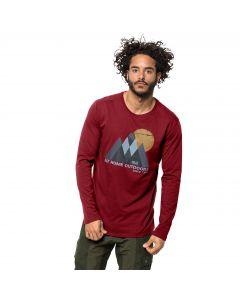 Koszulka męska MOUNTAIN LONGSLEEVE M dark lacquer red
