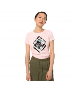 T-shirt damski TROPICAL SQUARE T W blush pink