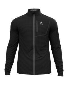 Męska bluza polarowa Odlo Fli Light Midlayer Full Zip black