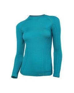 Damska bluzka termoaktywna Brubeck Active Wool LS12810 szmaragd