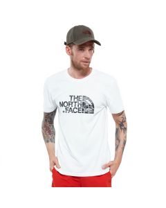 Męski t-shirt The North Face S/S WOODCUT DOME TEE white