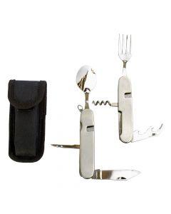 Zestaw sztućców – niezbędnik Basic Nature 470160 Cutlery Biwak Survival