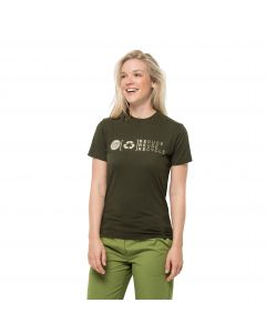 T-shirt damski NATURE RELIEF T W Bonsai Green
