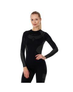 Damska koszulka Brubeck Dry LS13070 black