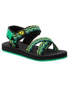 Sandały dla dziewczynki ZULU K black / green