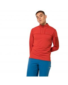 Bluza męska PERFORMANCE HALFZIP M lava red