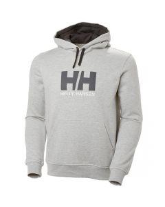Męska bluza z kapturem Helly Hansen Logo Hoodie grey maelange