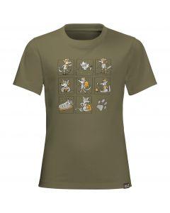 T-shirt dziecięcy MANY WOLVES T KIDS burnt olive